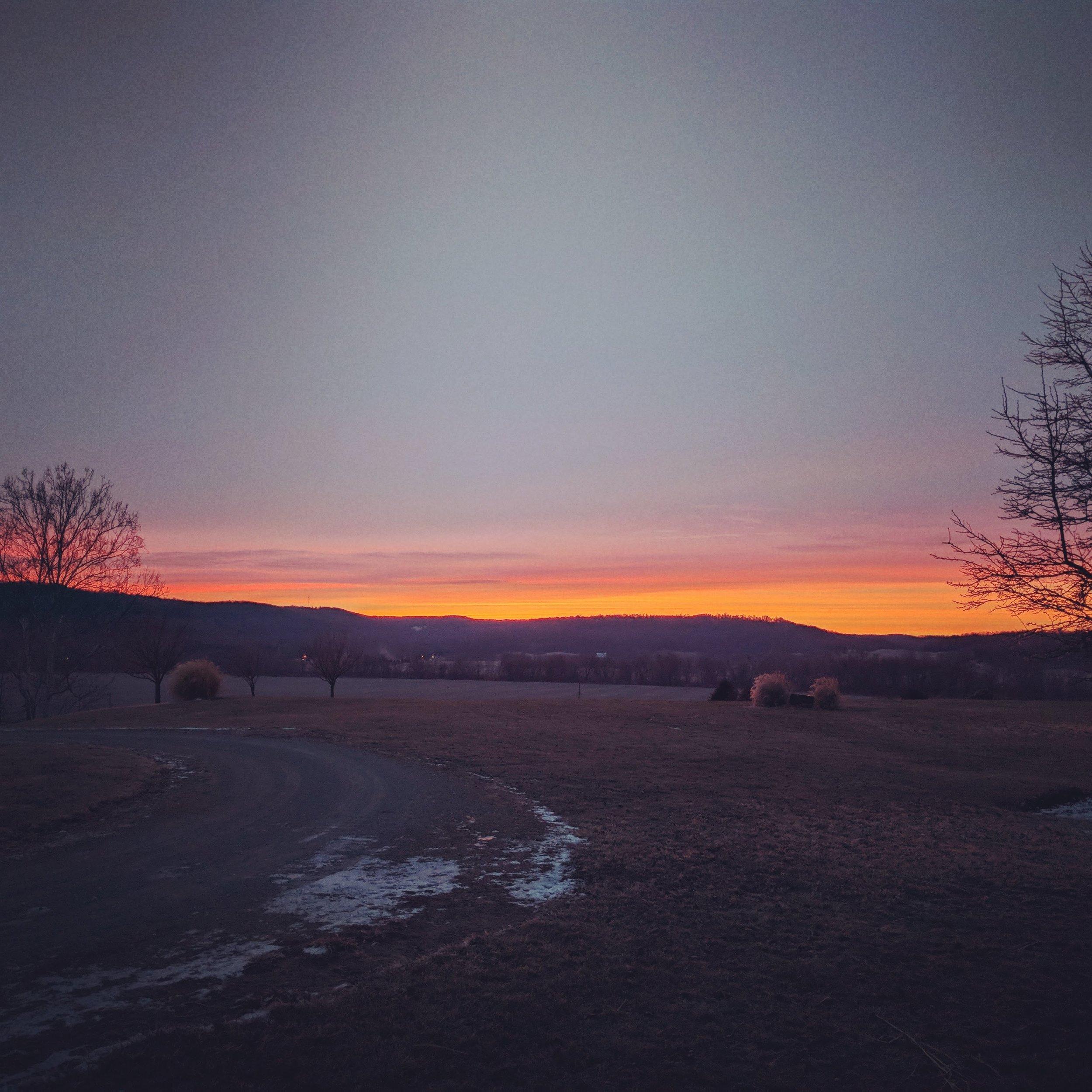 The sunrise from the morning she died.