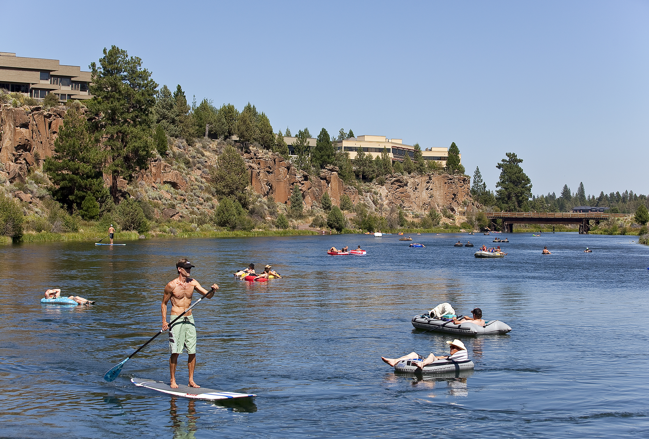 or floating the Deschutes River.