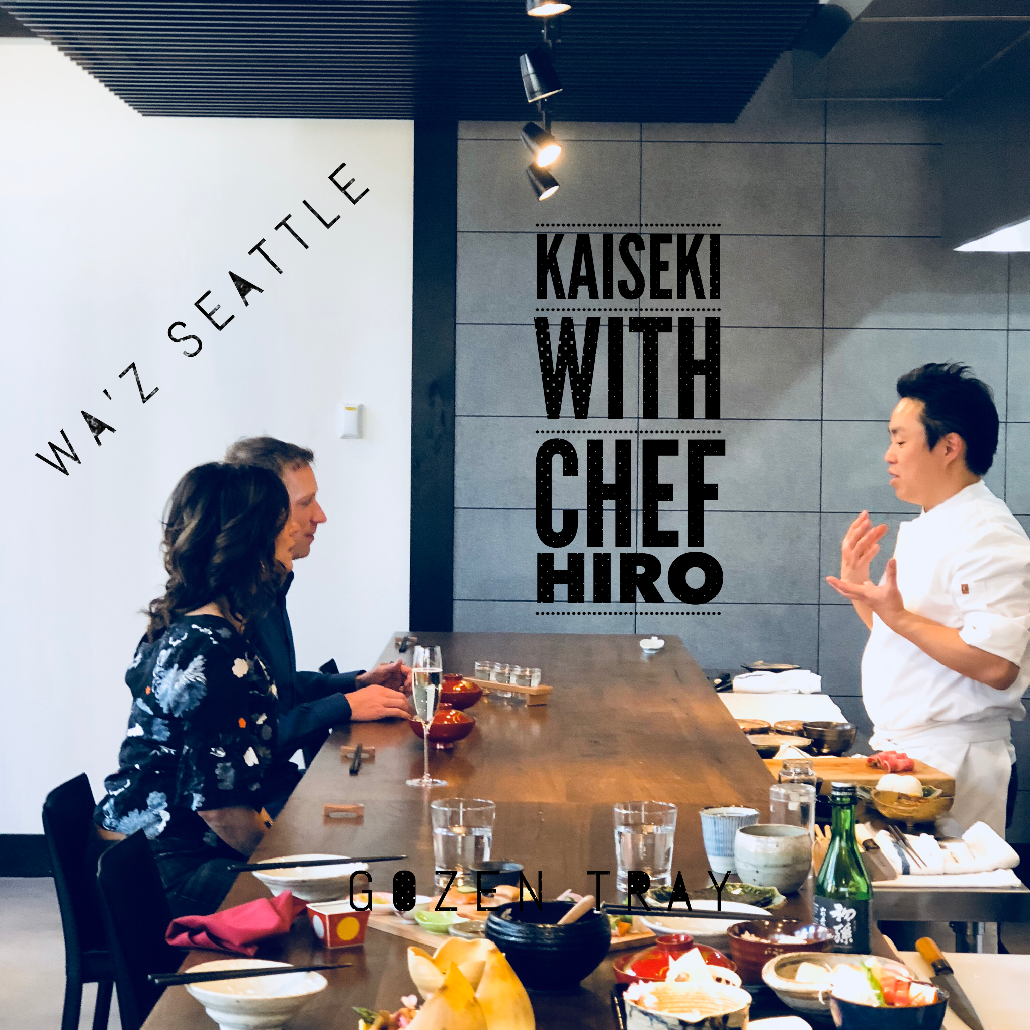 A seat at the chef's counter allows for interaction with Chef Hiro, who welcomes questions about the food and kaiseki tradition.