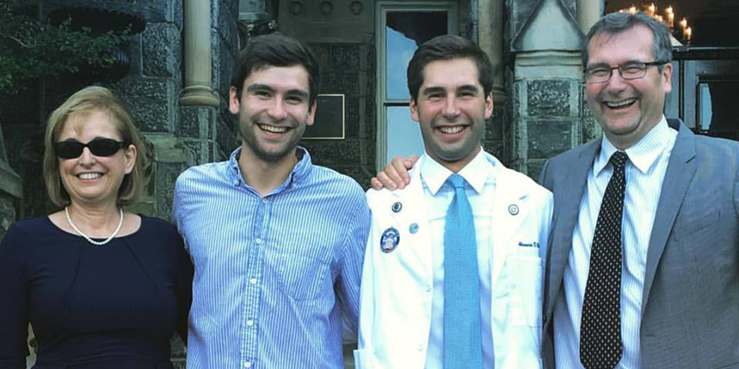 Alex Oster '12 (second from right) will be attending Georgetown University School of Medicine this fall.