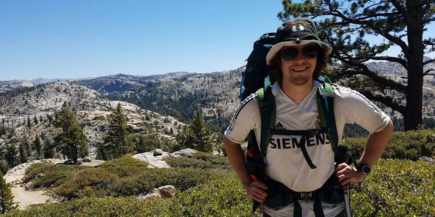 This picture was taken in the Emigrant Wilderness area of the Sierra Nevada Mountains in California. Peyton is the brother of David Rose '06, who was also a four-year member of the Tribe Hockey team.