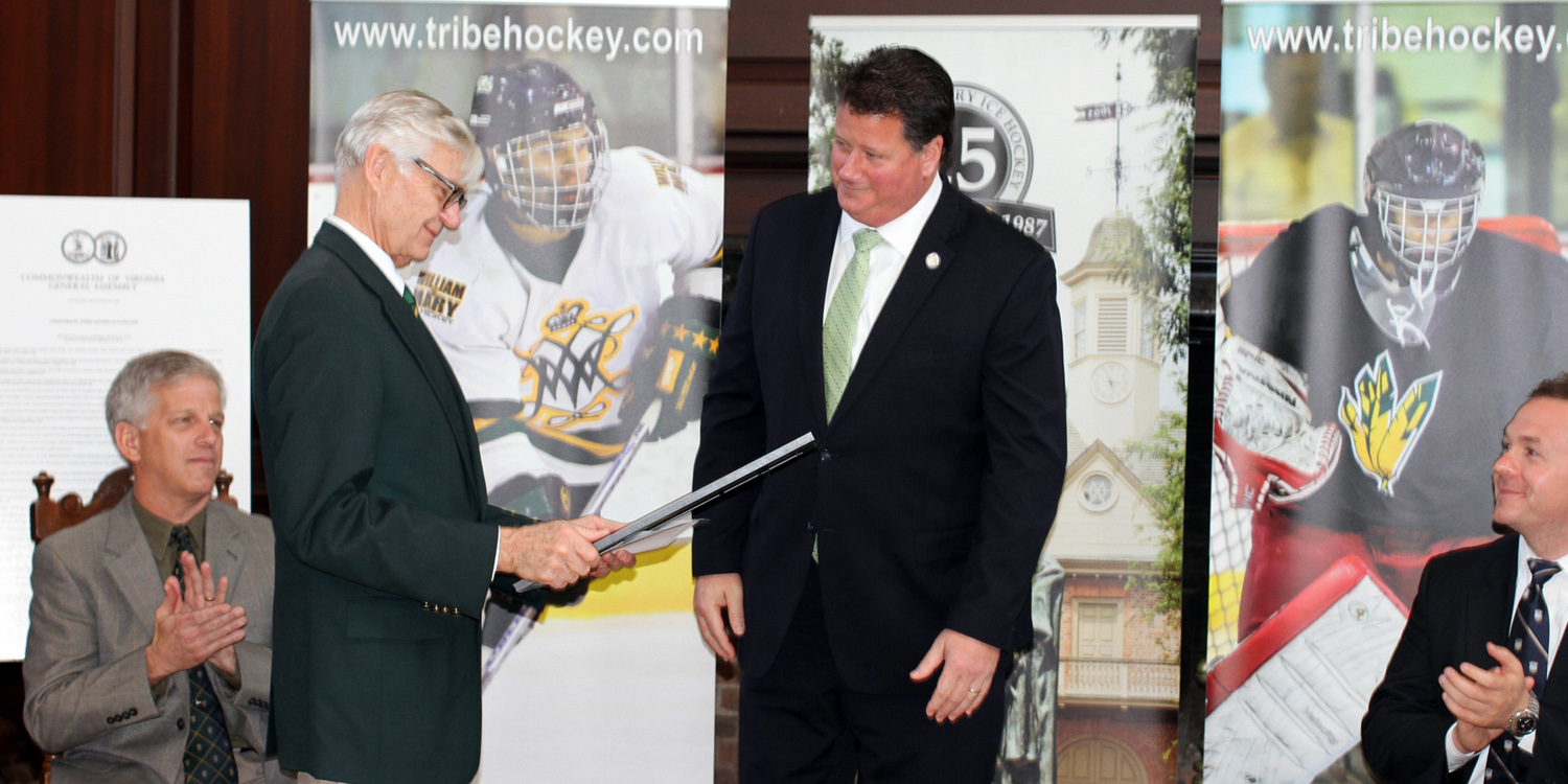 William and Mary's club hockey team celebrated it's 25th anniversary this past weekend in the Great Hall of the Wren Building.