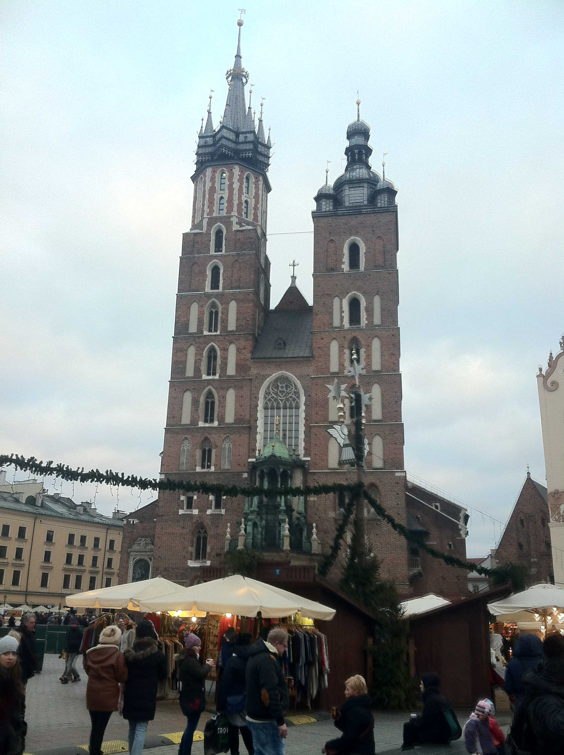 Captain Julian Kell and the ACHA D3 Select Team headed to Kraków, Poland and toured the city, visiting the Church of Our Lady Assumed into Heaven, or St. Mary's Church, which was built in the 14th century and is located near market square.