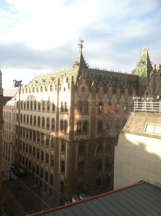 The view from Hotel President Budapest where the team stayed while in Hungary.