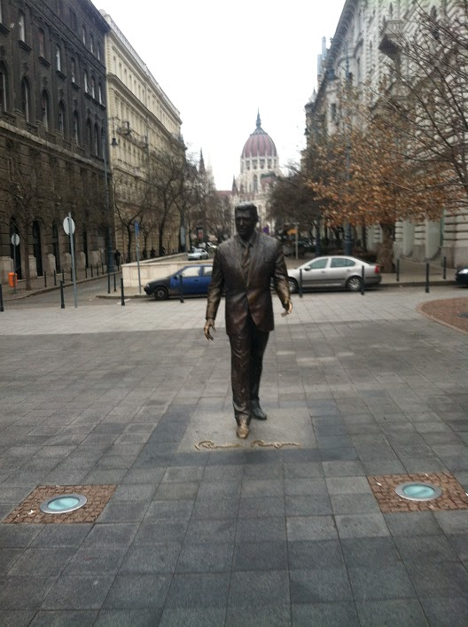 Ronald Reagan statue in Budapest near the U.S. embassy.