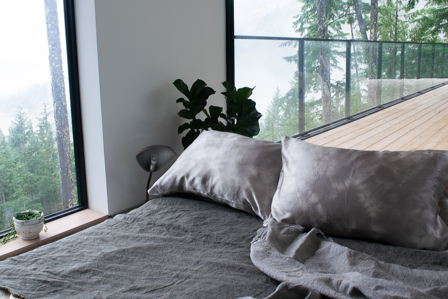 Naturally-Dyed Silk Pillowcases