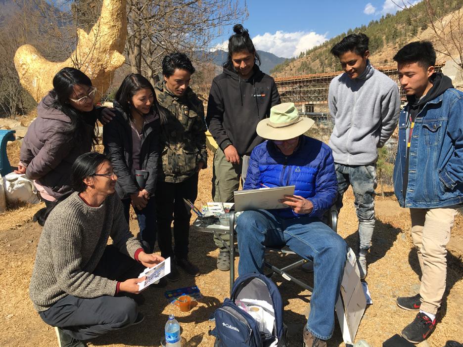 Paul Rickard at VAST, Thimpu