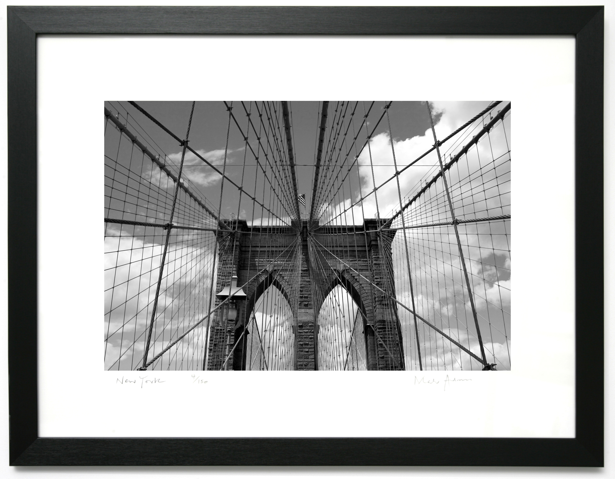 Framed Print Of New York Brooklyn Bridge Bridge 4 New York Framed Prints Of London Paris New York For Offices Homes And Gifts