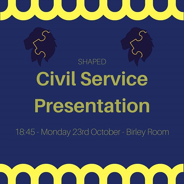 Don't forget to sign up to the Civil Service Presentation tonight at 18:45 in the Birley Room covering the Government's Leadership Development Scheme, Fast Stream!! FREE FOOD AND DRINK will be provided and there will be an opportunity for networking before and after the talk . . . **SIGN UP FOR THIS EVENT IS REQUIRED** http://hatfield-shaped.com/civilservice . . . #SHAPED #hatfield #hatfieldcollege #durham #durhamuni #durhamuniversity #government #leadership #careers #personaldevelopment  #development