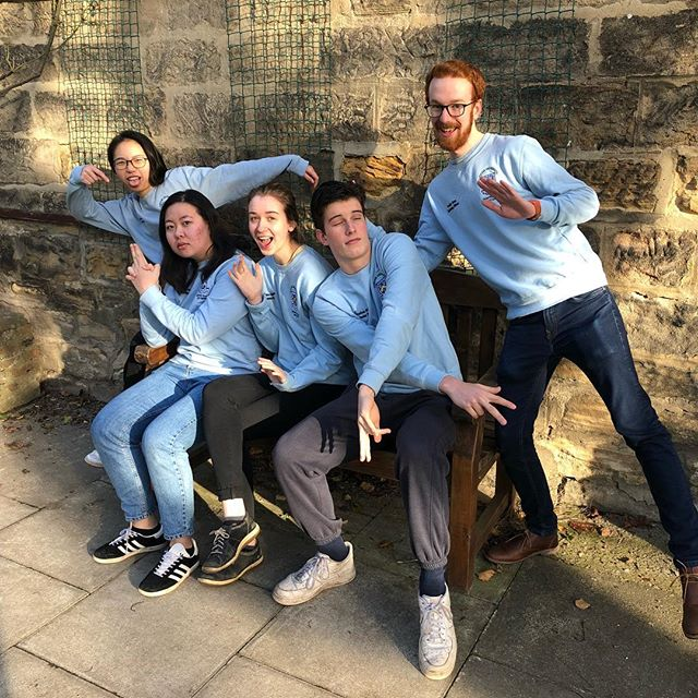 When your Coordinator asks you to come pose for a photo at 8.30 in the morning - look happy!😁 HUGE thanks to everyone on this years SHAPED Exec, and to all the great applicants we've had for next year #shaped #hatfield