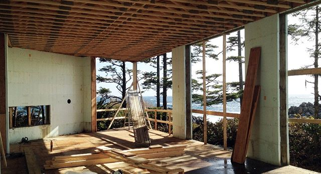 Ucluelet House construction, ICF walls, 2019