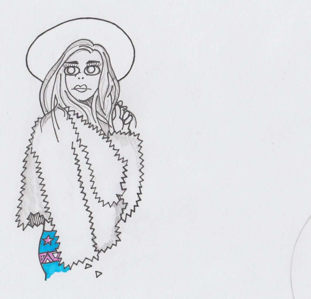 Erin  (2018); Pen, pencil & highlighter