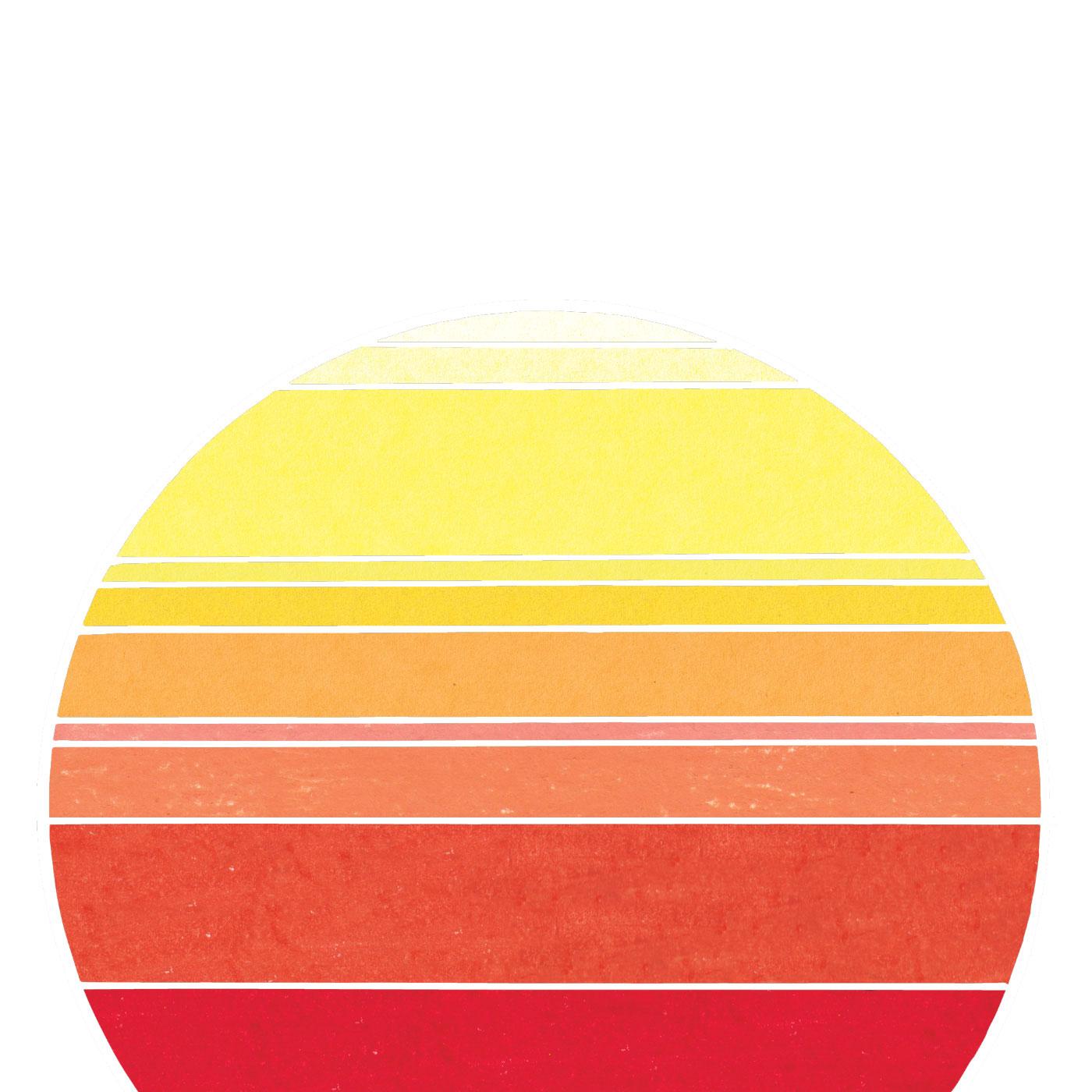 Sun Machine  (2018); Photoshop edited illustration, colored pencil & construction paper