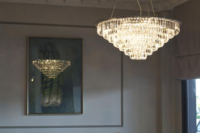 Olga Skorik Design Restaurant Detail Chandelier