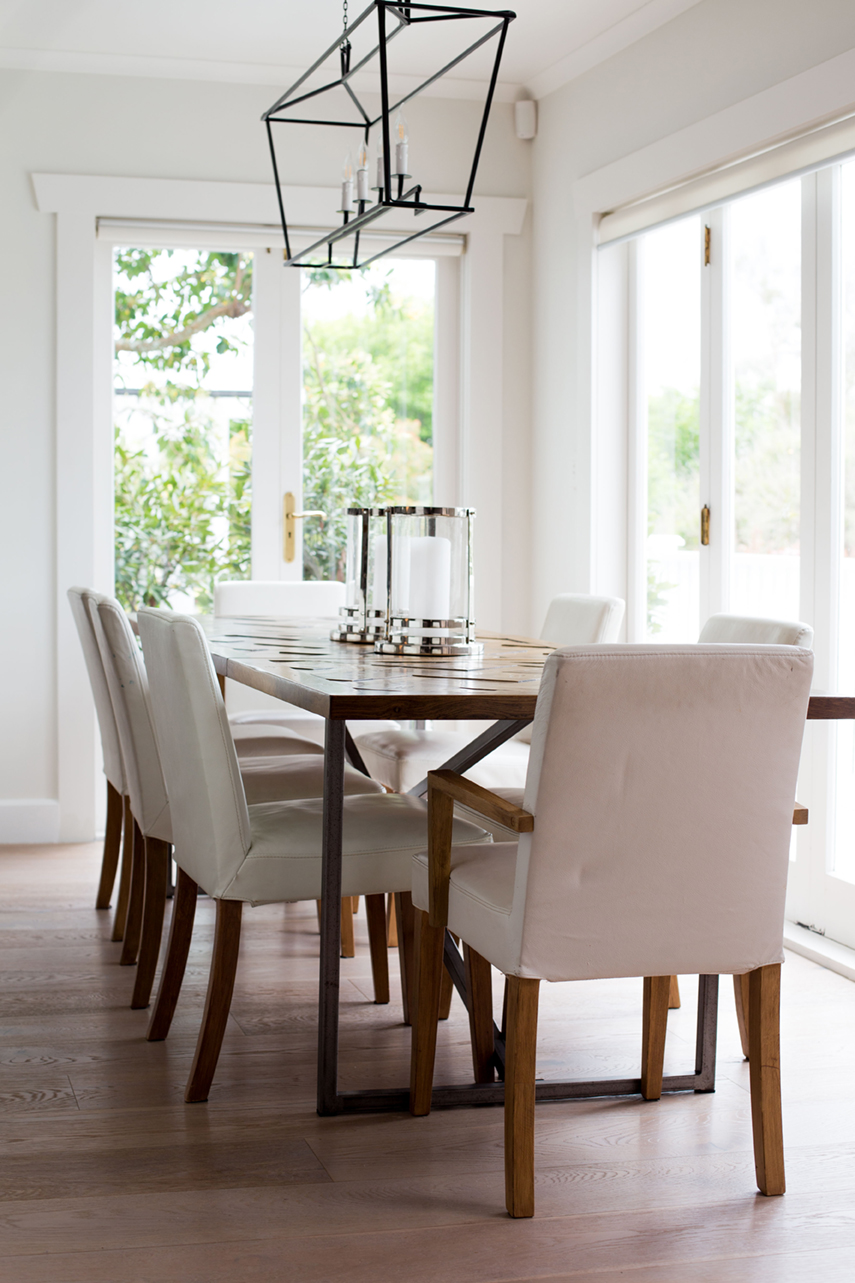 Olga Skorik Interior Design Entertaining White Dining