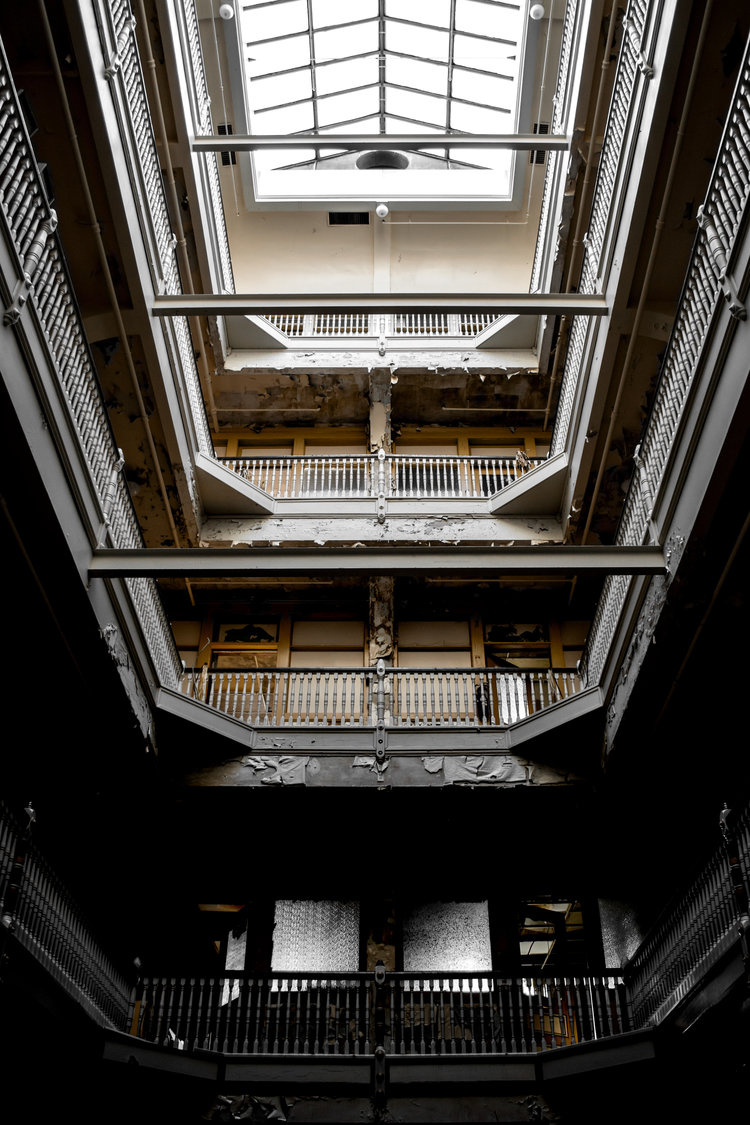 The Lafayette No. 1   A scene inside The Lafayette Building, a historic neo-classical office building built in 1903 in downtown South Bend. This photograph was shot in September 2016 and featured one year later in our brief story  The Lafayette Building .