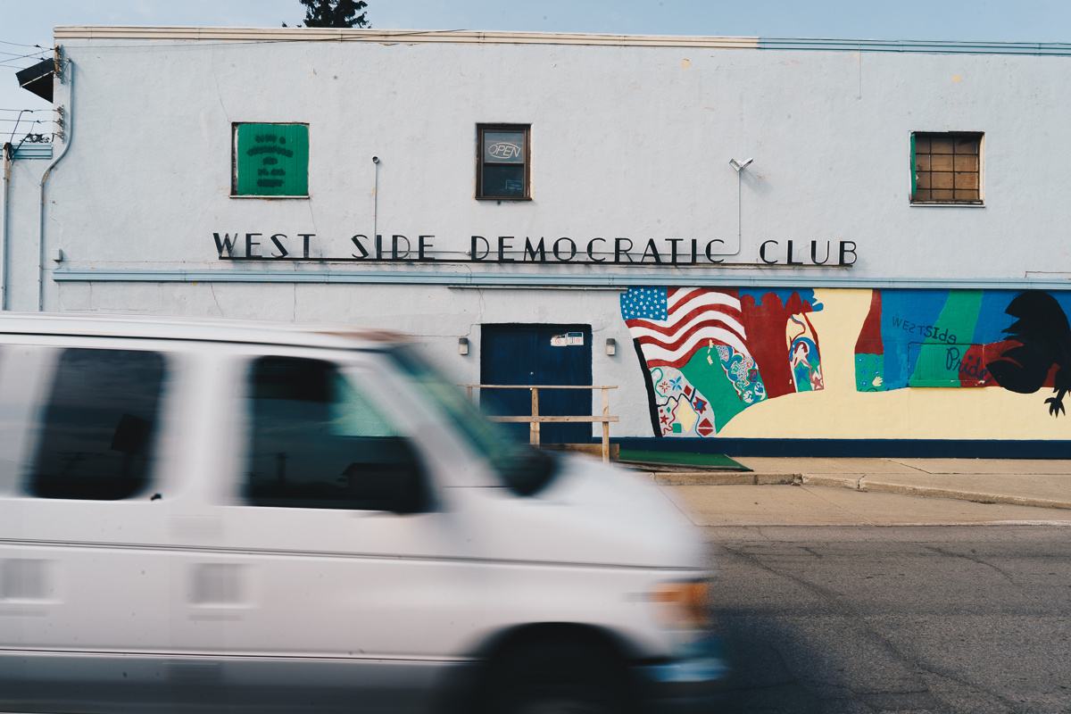 Ford Street No. 2   A view of South Bend's historic West Side Democratic Club, once host to both Bobby Kennedy and Bill Clinton. This photograph was featured in our April 2018 story  Afternoon on Ford Street .