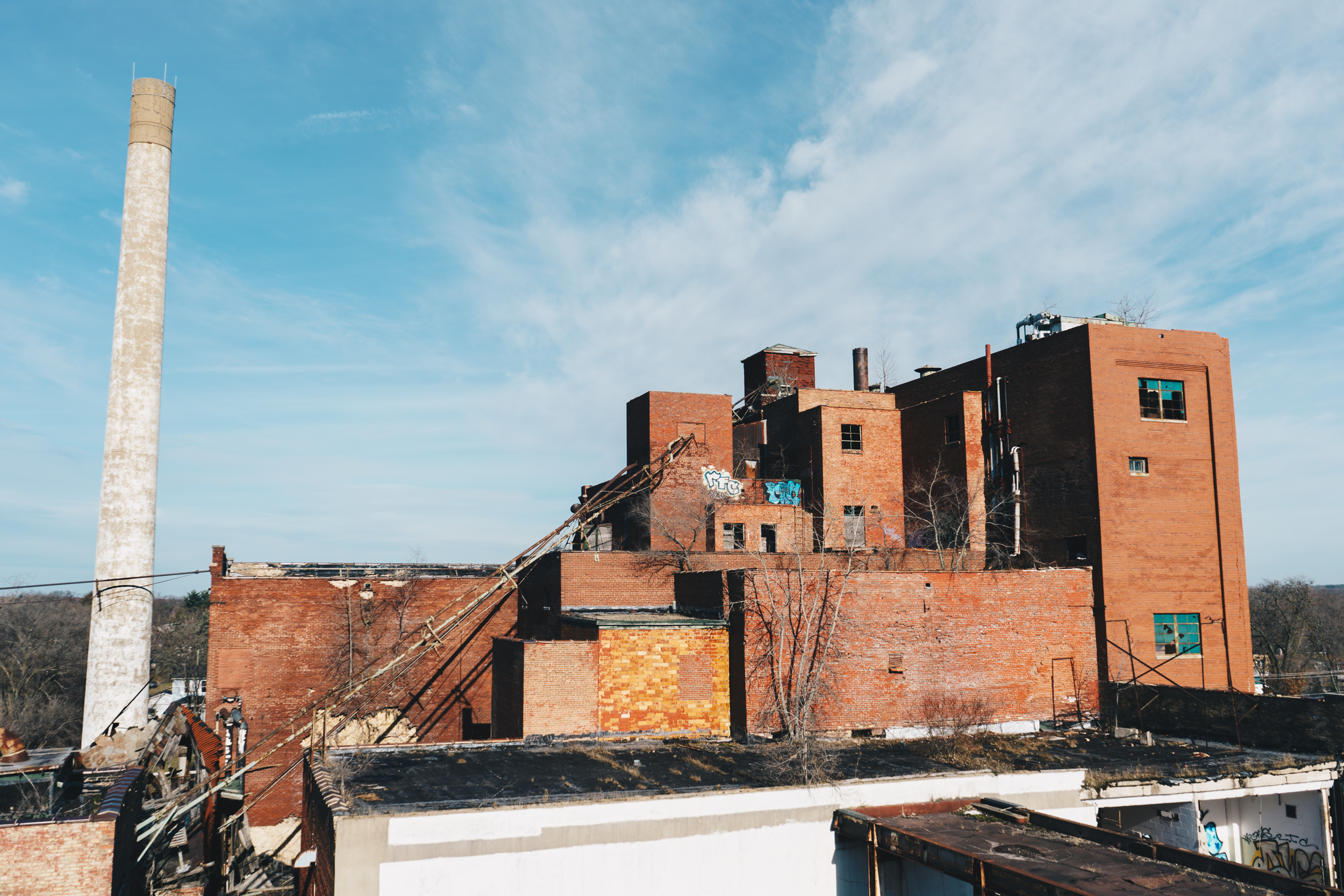 Drewry's No. 1   A rooftop view of the main brewing building of the since-demolished Muessel–Drewry's Brewery on the North West side of South Bend. This photograph was featured in our January 2017 story  Drewry's Brewery .