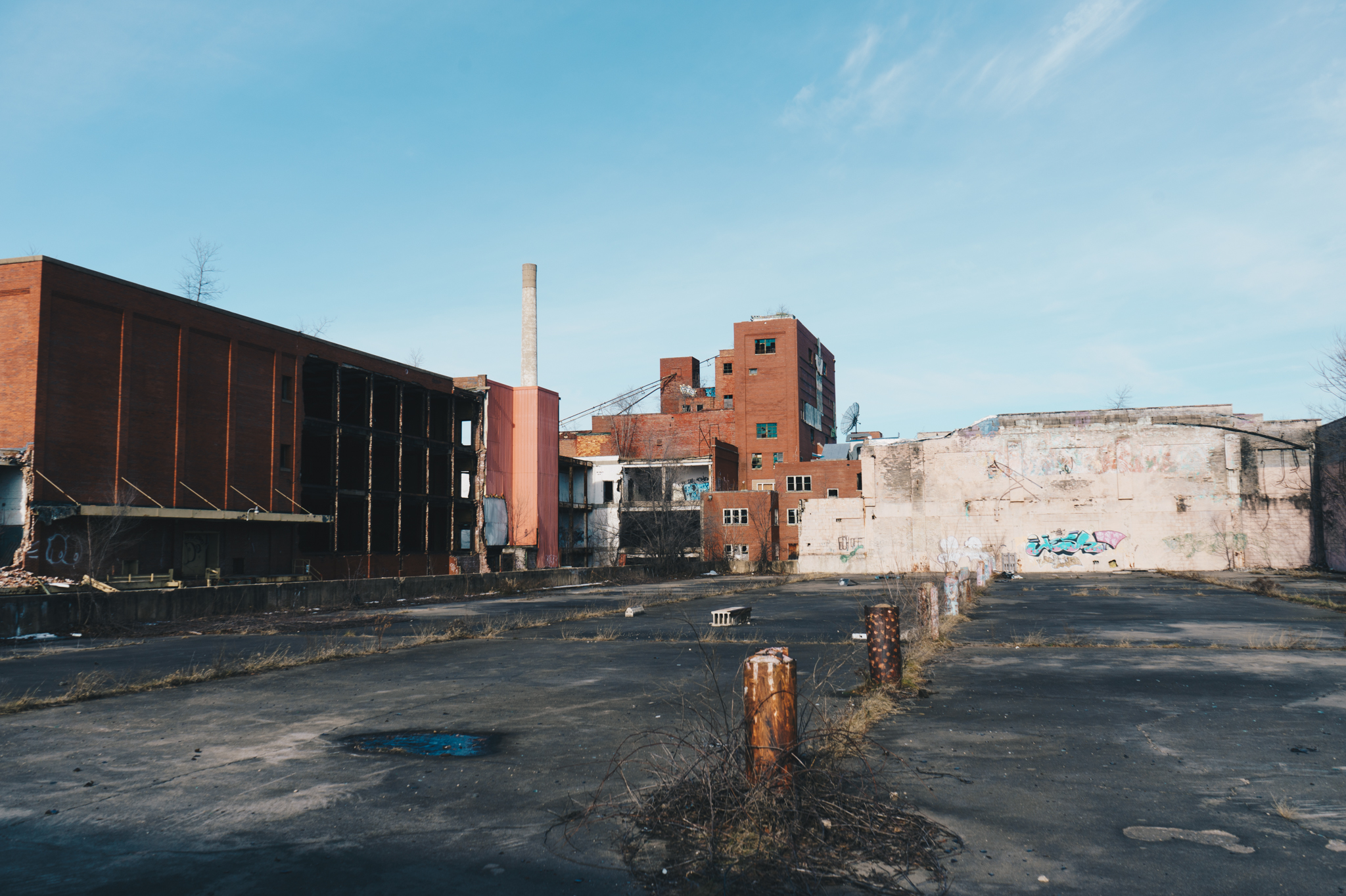 Drewry's No. 2   A view from within the since-demolished Muessel–Drewry's Brewery on the North West side of South Bend. This photograph was featured in our January 2017 story  Drewry's Brewery .