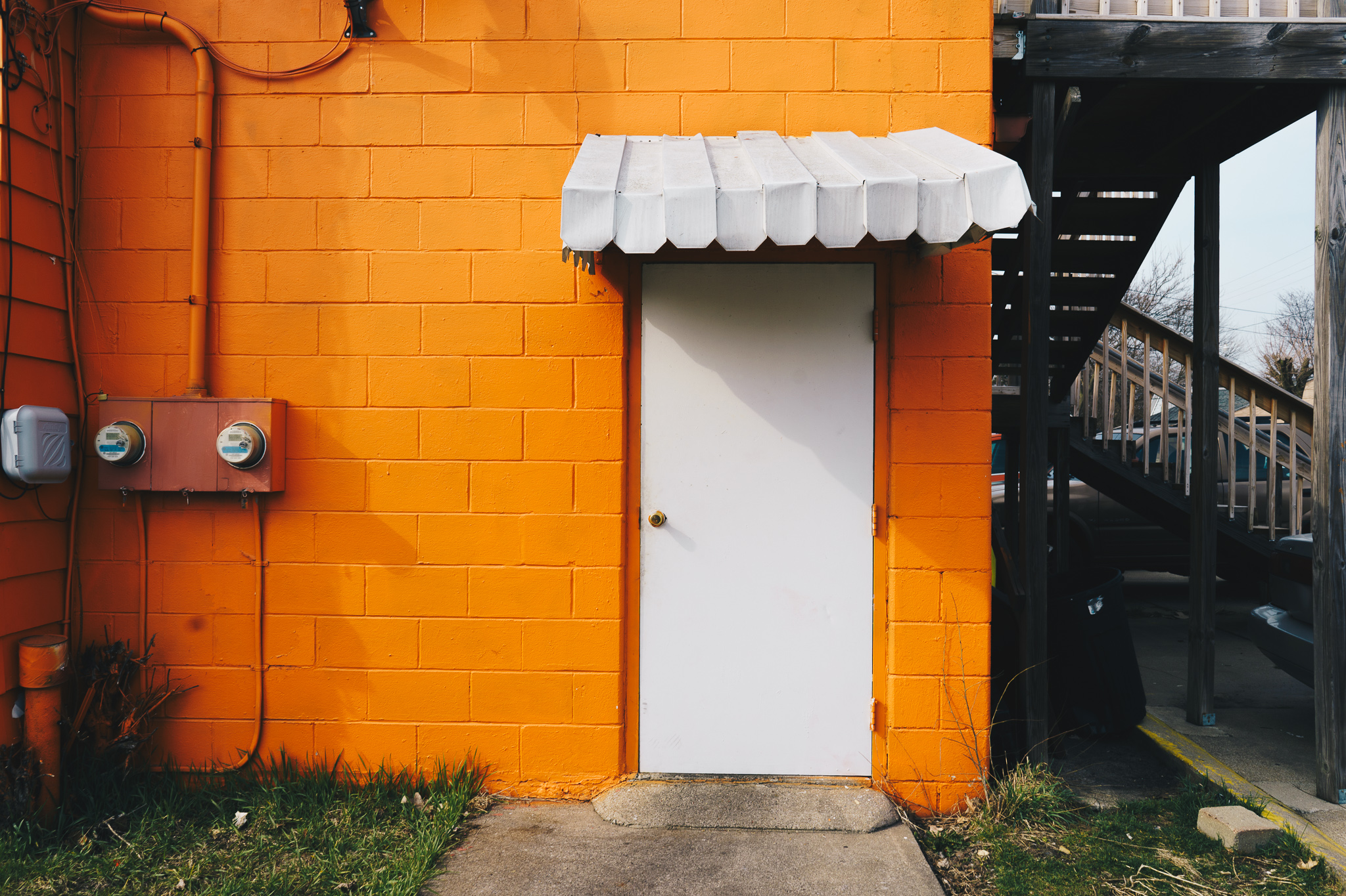 Ford Street No. 1   The side entrance to Juan Camaney, a nondescript Venezuelan restaurant on South Bend's West Side. This photograph was featured in our April 2018 story  Afternoon on Ford Street .