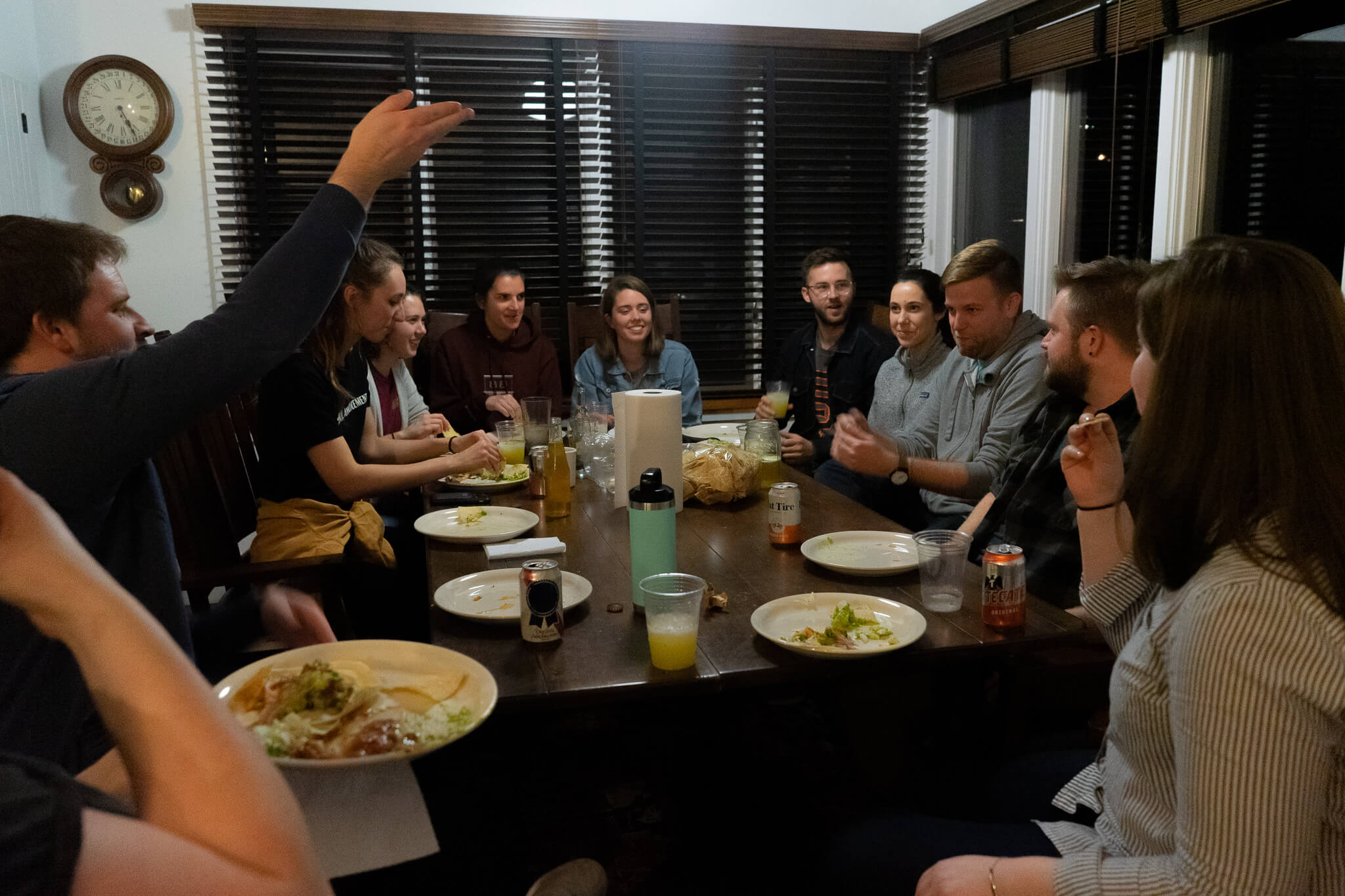 From left: Kevin Lawler, Dustin Mix, Helen Cramer, Kristen Titus, Maria Gibbs, Kathryn Keur, John Garry, Rachel Brandenberger, Brian Donoghue, Jon Keur, Anna Kennedy