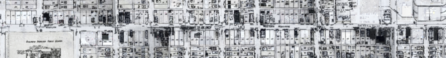 1945 map of Western Avenue.