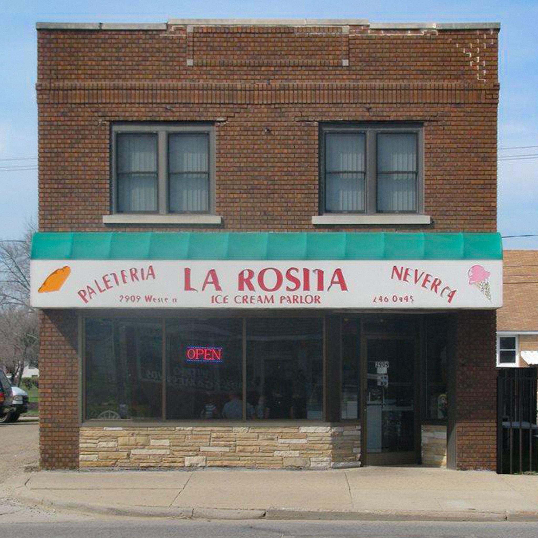 La Rosita prior to their city-assisted facade transformation.