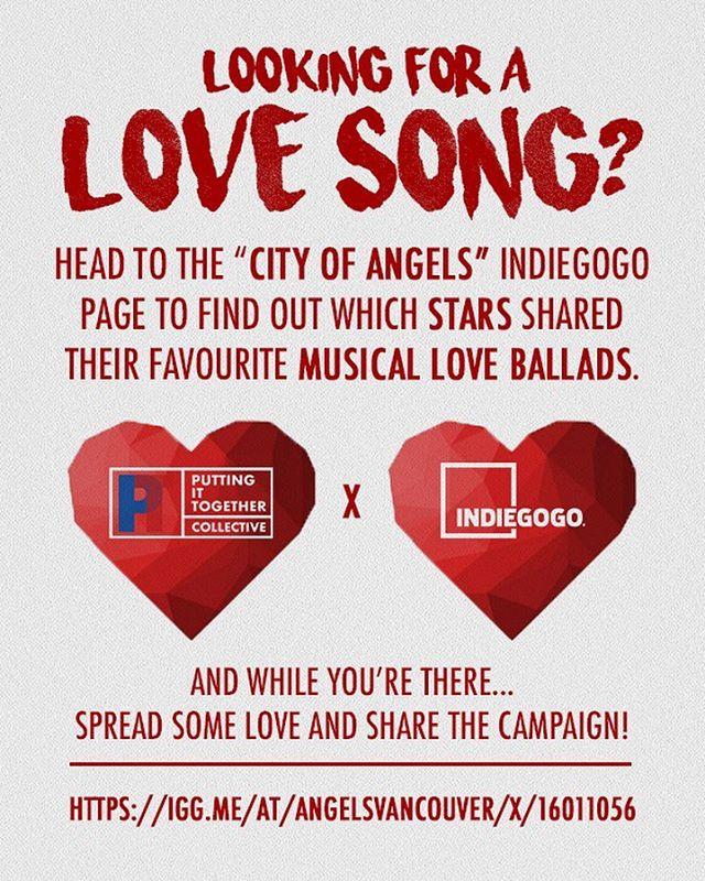 If you haven't, head on over to @cityofangelsvancouver @indiegogo campaign and show some love and support! . . . #coa #pit #collective #vancouver #theatre #broadway #musical #performance #indie #art #vancity #yvr #bc #valentines #day
