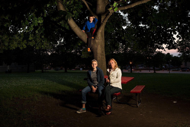 Tammy, Oskar, and Zoe- Shorewood. 2015