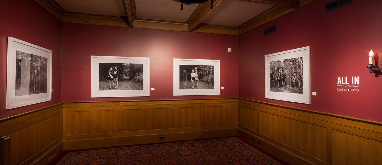 Sister photos, installed view at Charles Allis Art Museum