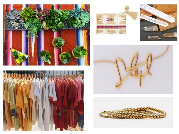 Shop Desert Cali Chic Collage: Big Red Sun // Backbeat Rags // Legend of Lido // Flight of Heart // Sincerely Jewelry // Karen Lazar Design