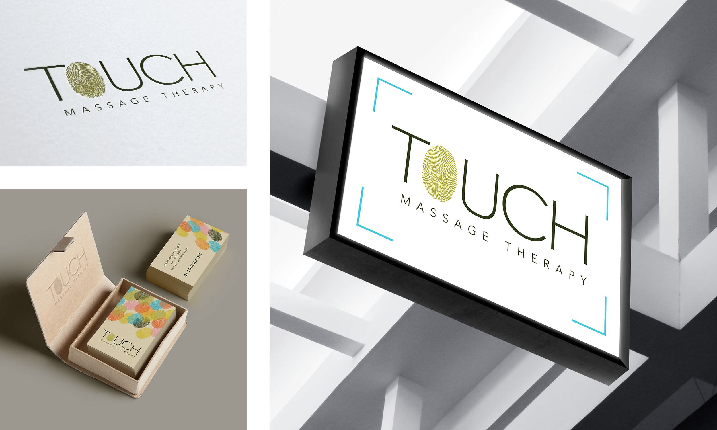 OC Touch Logo, Business Card, and Signage