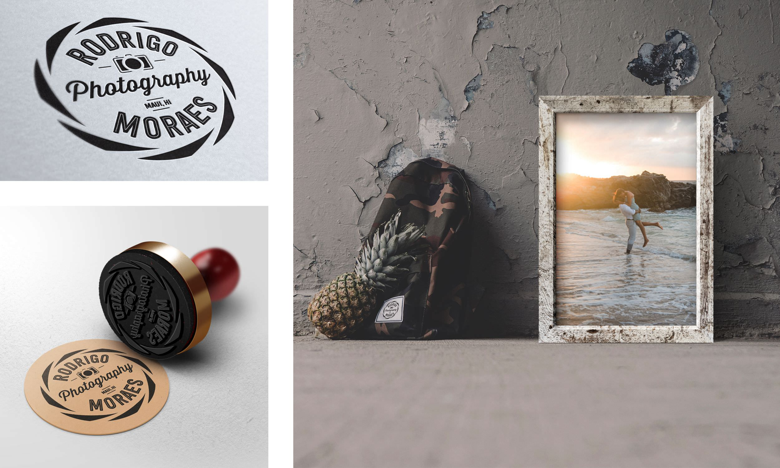 Rodrigo Moraes Photography Logo, Stamp, and Image