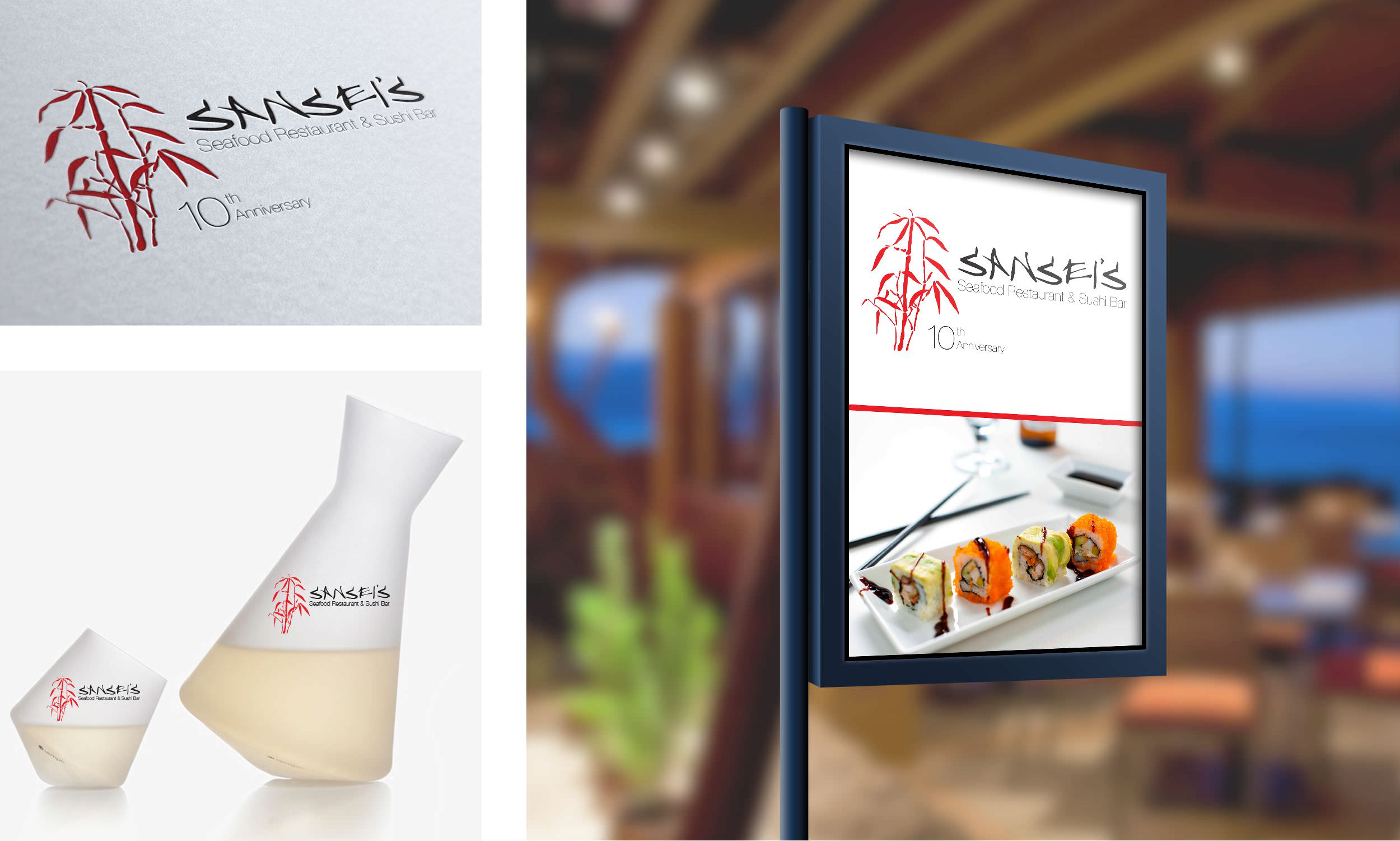 Sansei Logo, Usage, and Signage
