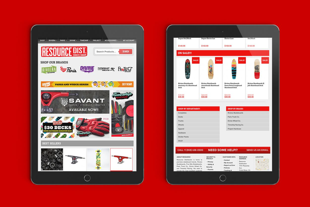 Resource Distribution   Art Direction + Web + Ecommerce + Product Photography