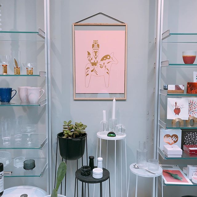 We are thrilled that our Gold Dala Prints (16x20) are on the walls/shelves @gominimal, our favorite design shop right in the heart of Hayes Valley (364 Hayes St). And among such incredible company of so many beautiful and contemporary design classics! It's worth a visit if you're in SF.