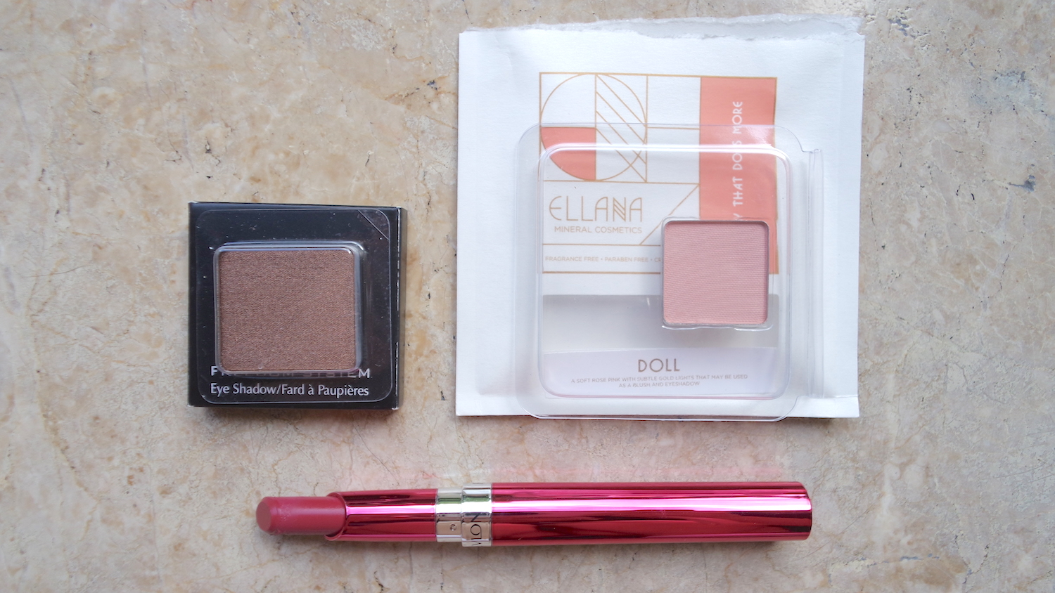 Inglot Freedom System Eyeshadow in Pearl, PHP 425 / 2.7g, Ellana Minerals Pressed Multipurpose Powder in Doll, PHP 200 / 2g, Revlon Ultra HD Gel Lip Color in Vineyard, PHP 575 / 1.7g