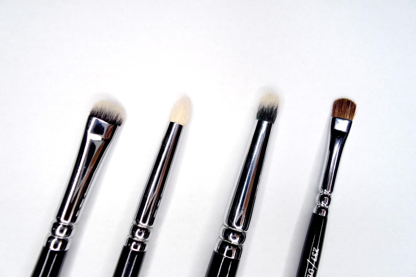 zoeva 226 smudger, 230 luxe pencil brush, 223 petit eye blender brush, 237 detail shader