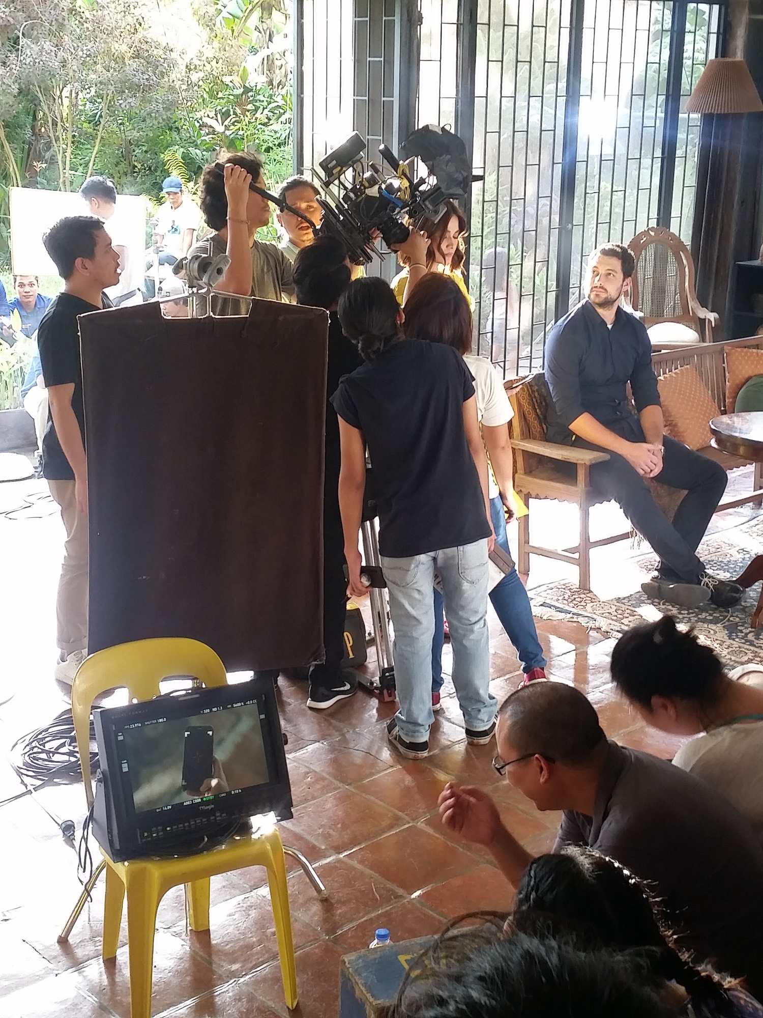 Setting up another shot