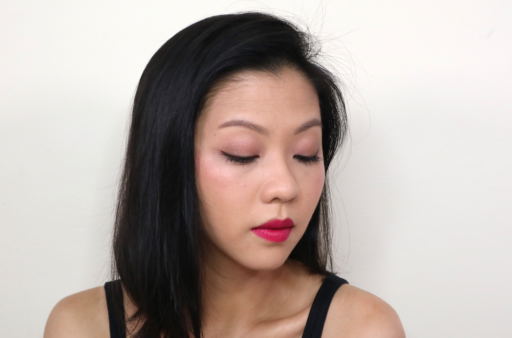 In this angle, you can really see the highlight effect from the I'm Blushing 2-in-1 Cheek and Lip Tint in Dainty.