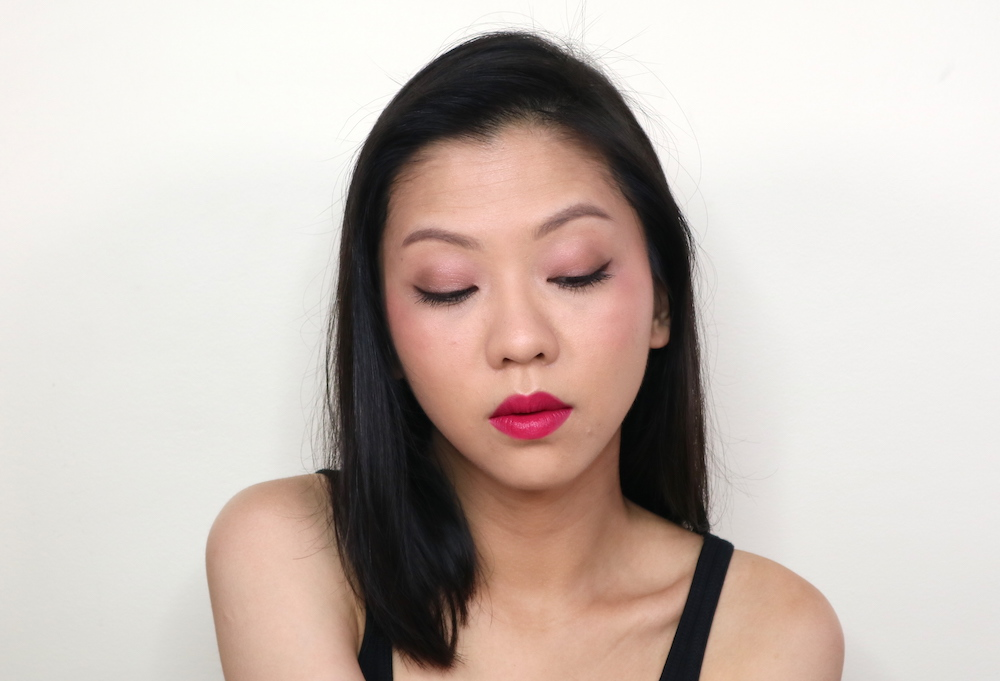 This shows off the lid look from the Palladio Eye Shadow Squad, Waterproof eyeliner and MaXXLash Mascara. The quad applies softer than the swatches, and the mascara didn't add much to my original length. The eyeliner looks great though!  This photo also showcases the soft focus effect of the Powder Finish Foundation.
