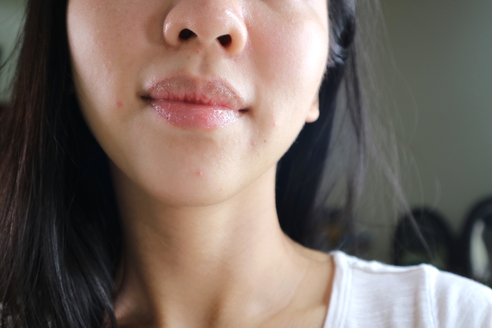 After oil-based lip scrub and lip oil!