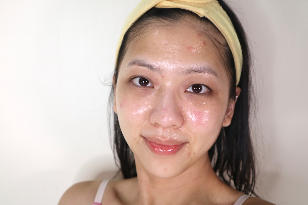 """I think I wasn't using enough mask product at this point. A """"generous coating"""" is supposed to look like goop slathered all over your face. That's about a palmful of product."""