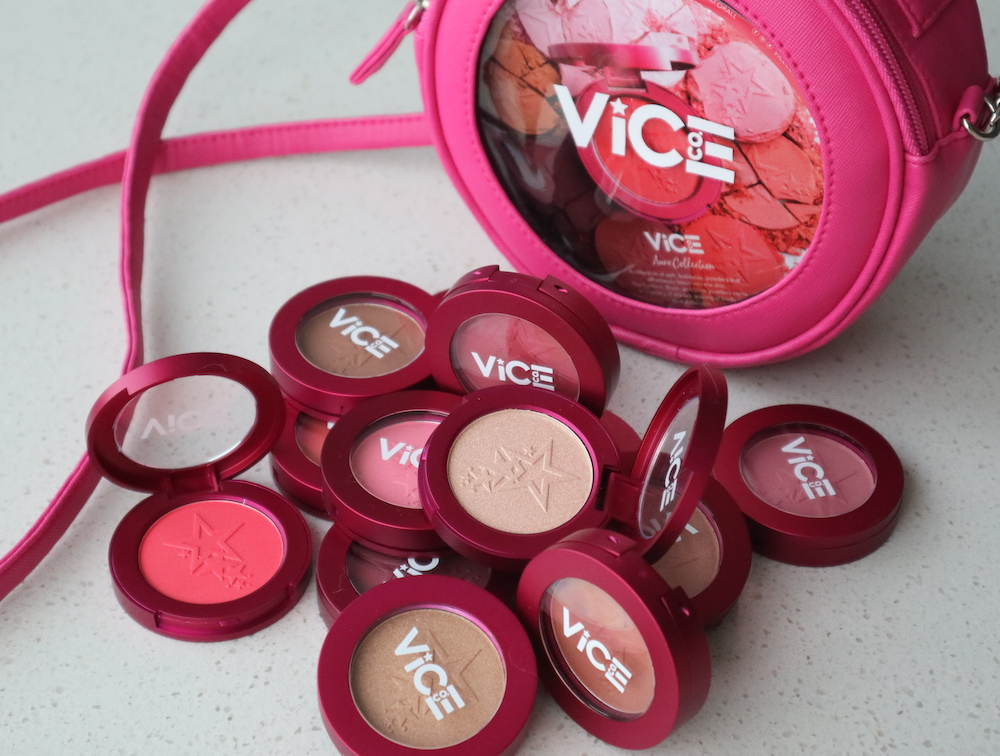 vice cosmetics aura collection blushes highlighters contour