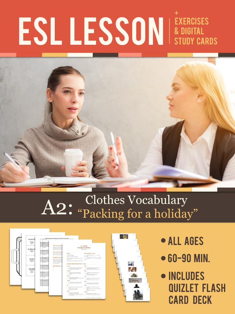 "A2: ""Packing for a Holiday"" Lesson"