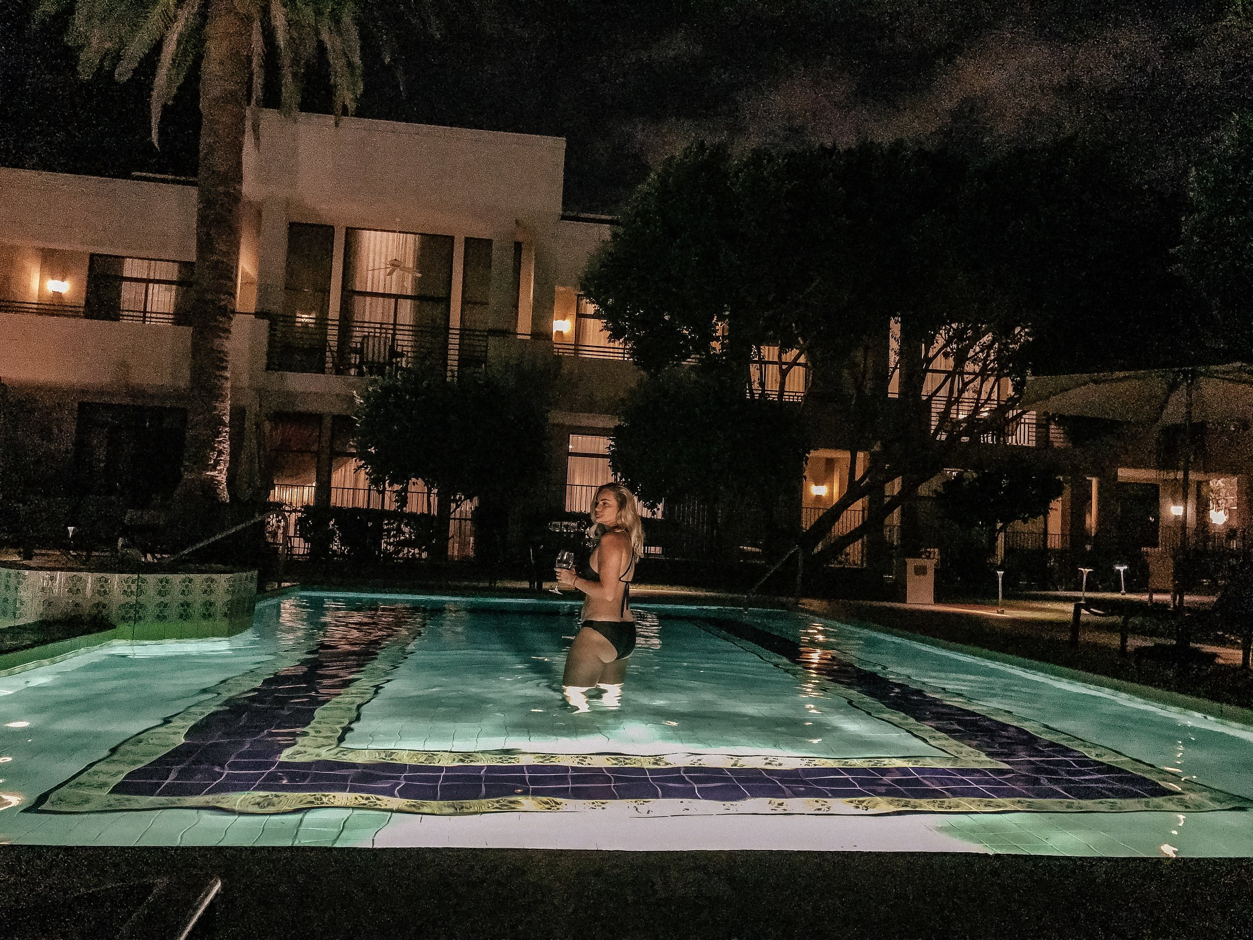A late night dip in The Catalina Pool