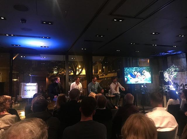Great fun last night at the v slick @nobuhotelshoreditch speaking about our big adventure as part of the @condenasttraveller Travellers' Tales event series. . Full house and a great crowd in attendance ... and the @talisker whisky cocktails went down a treat! The perfect accompaniment 👌🥃 . Also, v happy to announce that all proceeds from ticket sales have gone direct to our two charities @mind and @spinalresearch . . Thanks also to Conde Nast Traveller contributing editor, David Annand, for keeping us on our toes with some interesting questions! . #condenasttraveller #condenast #nobuhotel #shoreditch #talisker #taliskerwhisky #madebythesea #thethreeoarsmen #wheresdicky #mind #spinalresearch #wildspirits #everydayadventure #dreambig