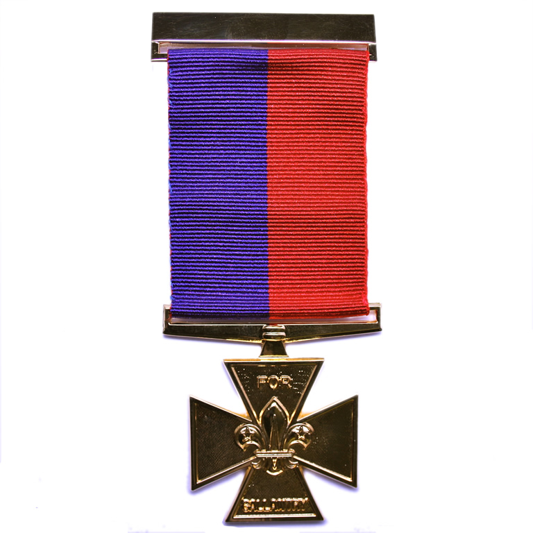 The Gilt Cross - Awarded for gallantry in circumstances of moderate risk.