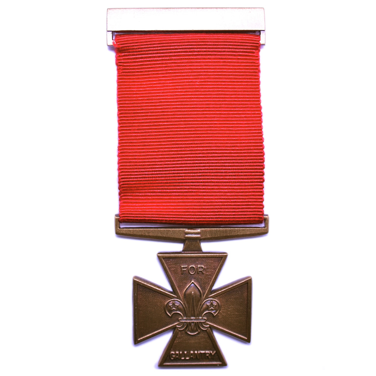 The Bronze Cross - Awarded for special heroism or action in the face of extraordinary risk.