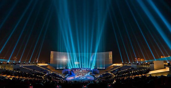 The stunning Amphitheatre in Doha, Qatar; the jewel of the Katara Cultural Village, where Katara Studios is located.